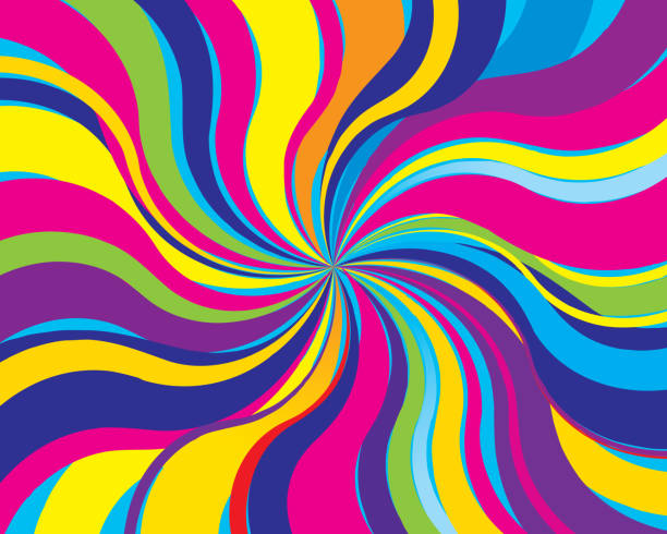 psychedelic twist background - swirl stock illustrations