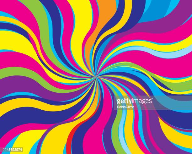 psychedelic twist background - colors stock illustrations