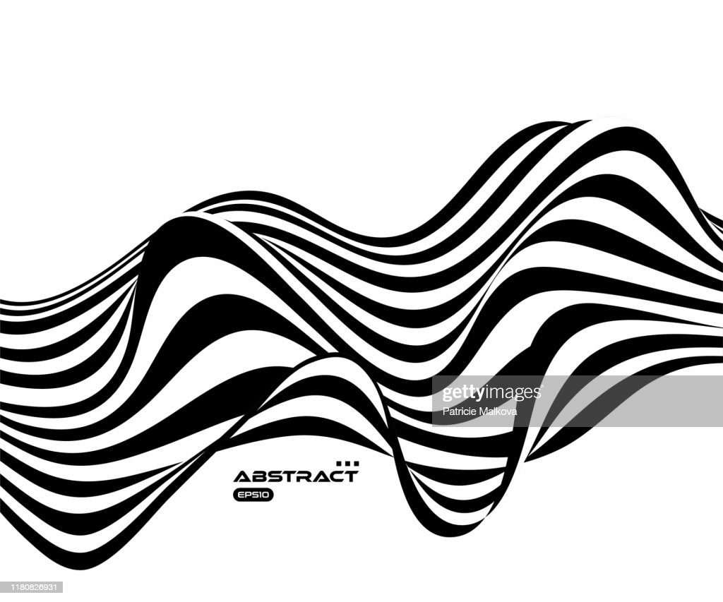 Seamless Abstract Black And White Stripe Pattern Background Stock  Illustration - Illustration of artistic, original: 146764439