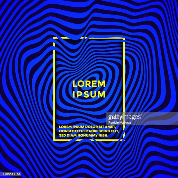 psychedelic vector background with colored waves distortion - optical illusion stock illustrations