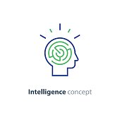 Psychology concept icon, strategy game icon, emotional intelligence