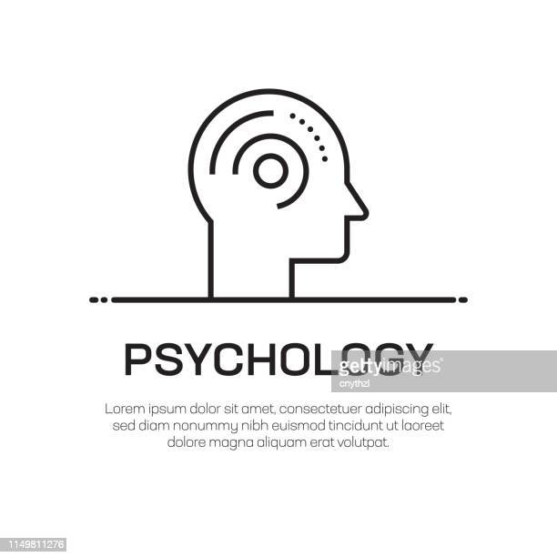 psychology vector line icon - simple thin line icon, premium quality design element - mental health professional stock illustrations