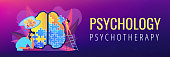 Psychotherapy and psychology header banner.