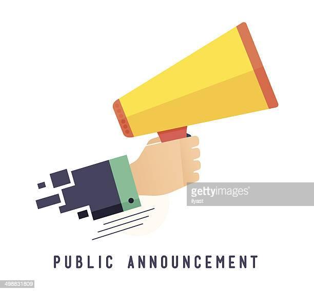 public announcement - announcement message stock illustrations
