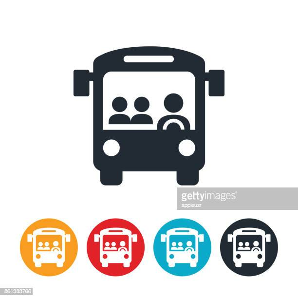 public buss icon - public transport stock illustrations
