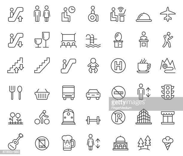 public icon set - leaving stock illustrations