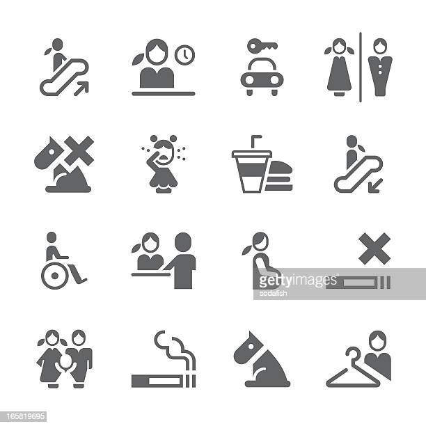 public icons | prime series - hotel reception stock illustrations, clip art, cartoons, & icons