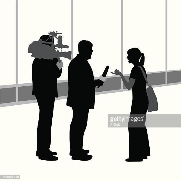 Public Opinion Vector Silhouette