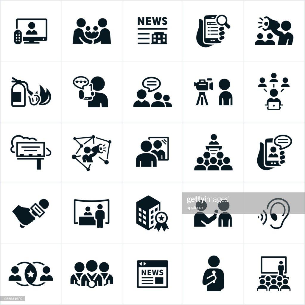 Public Relations Icons : stock illustration