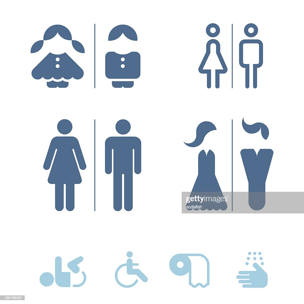 Public restroom icons