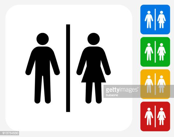 public restroom sign. - bathroom stock illustrations, clip art, cartoons, & icons