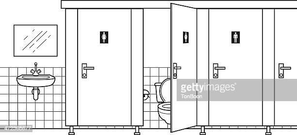 ilustrações, clipart, desenhos animados e ícones de banheiro público - bathroom