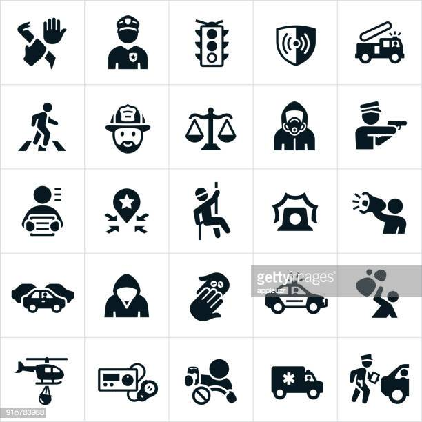 public safety icons - scales stock illustrations