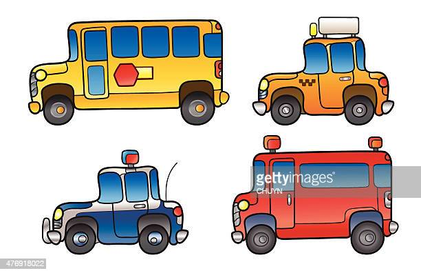 public service vehicles - yellow taxi stock illustrations, clip art, cartoons, & icons