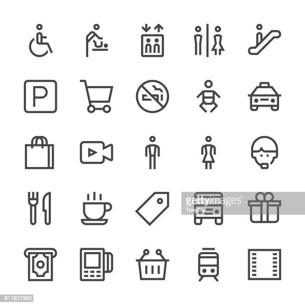 Public & Shopping Mall Icons - MediumX Line