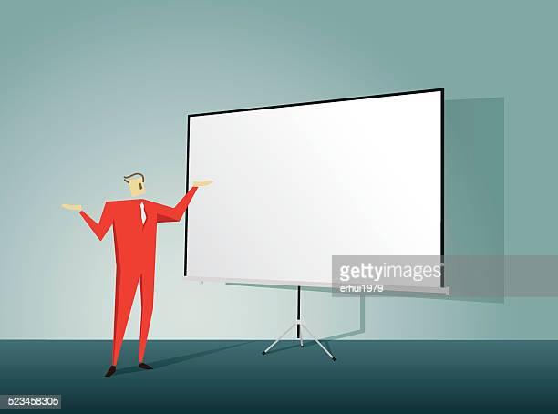Oratore pubblico, sala conferenze, educazione, insegnante