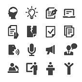 Public Speaking Icons - Acme Series