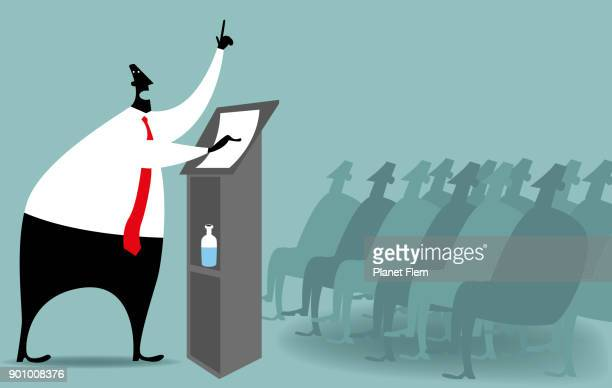 public speaking - press conference stock illustrations, clip art, cartoons, & icons