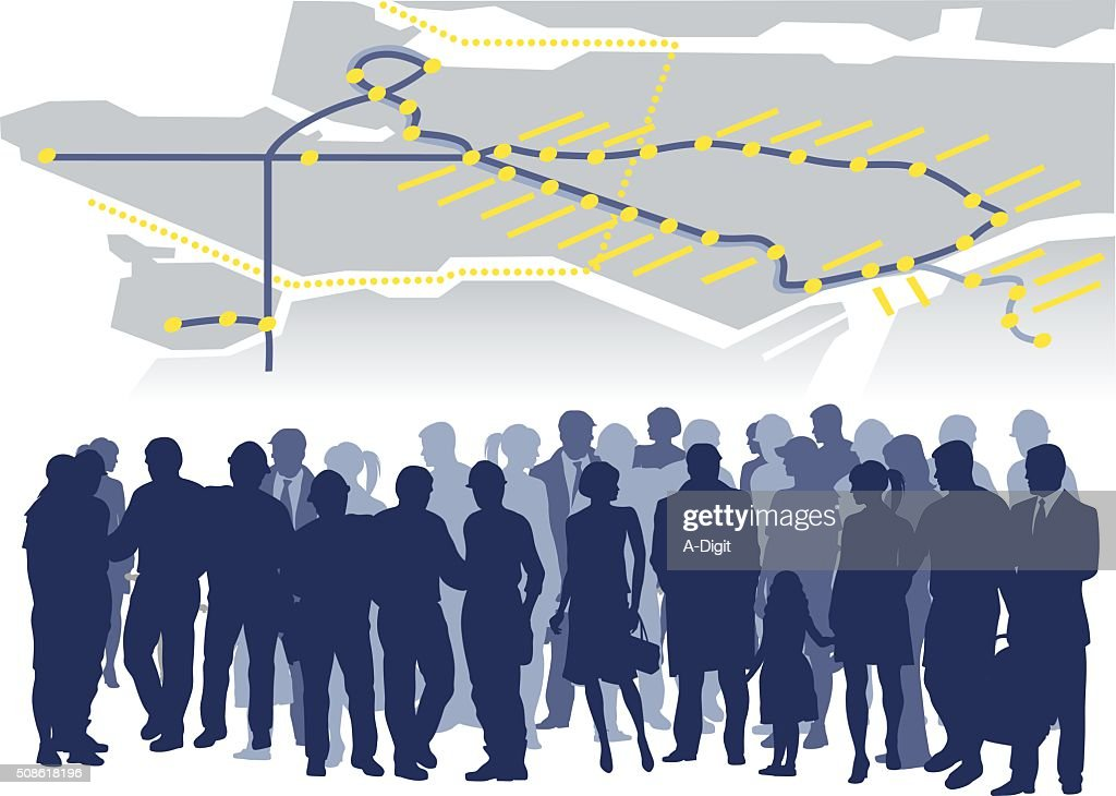Public Transport Crowd Train Map