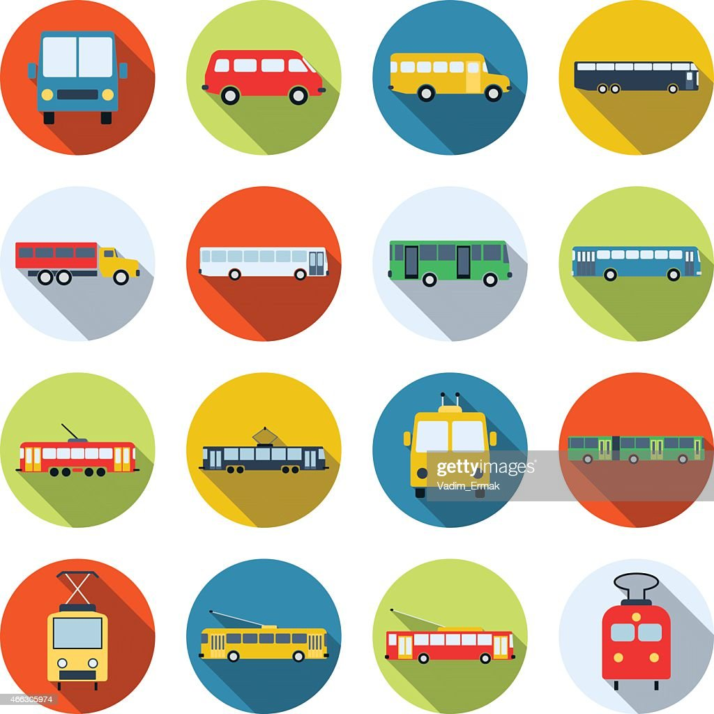 Public transport icons collection