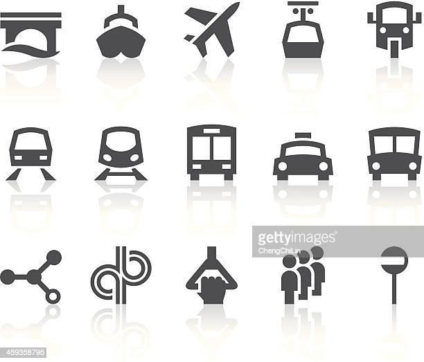Public Transportation Icons | Simple Black Series