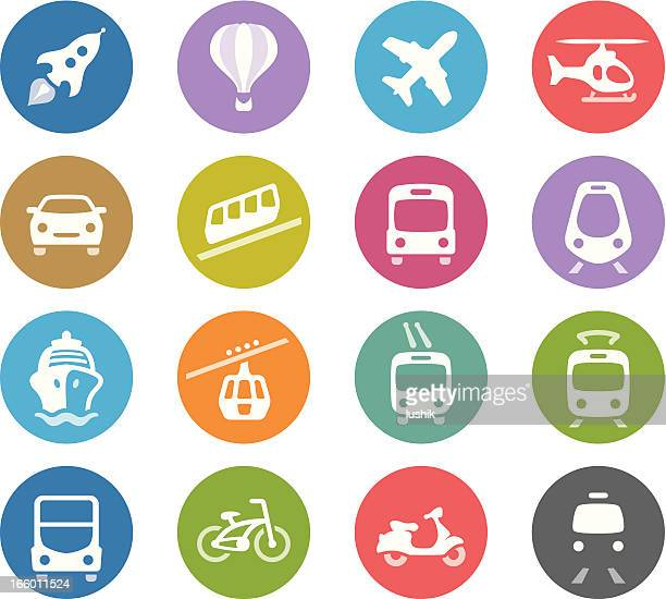 Public Transportation / Wheelico icons