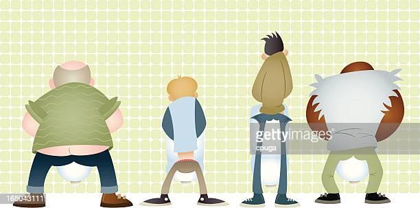 ilustraciones, imágenes clip art, dibujos animados e iconos de stock de orinal públicas - orina