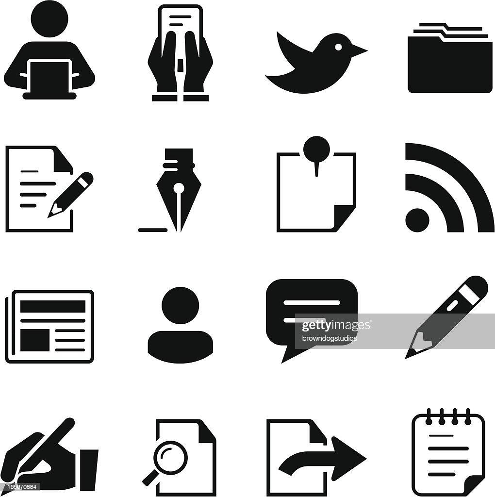 Publishing Icons - Black Series