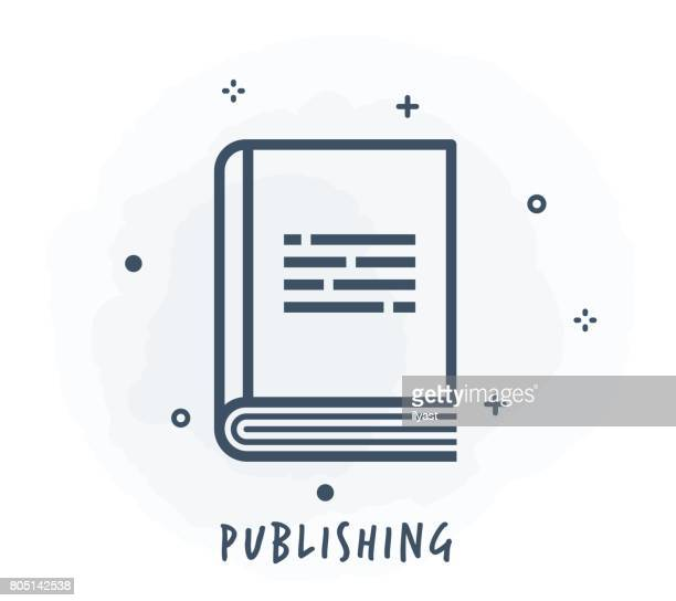 publishing line icon - publisher stock illustrations