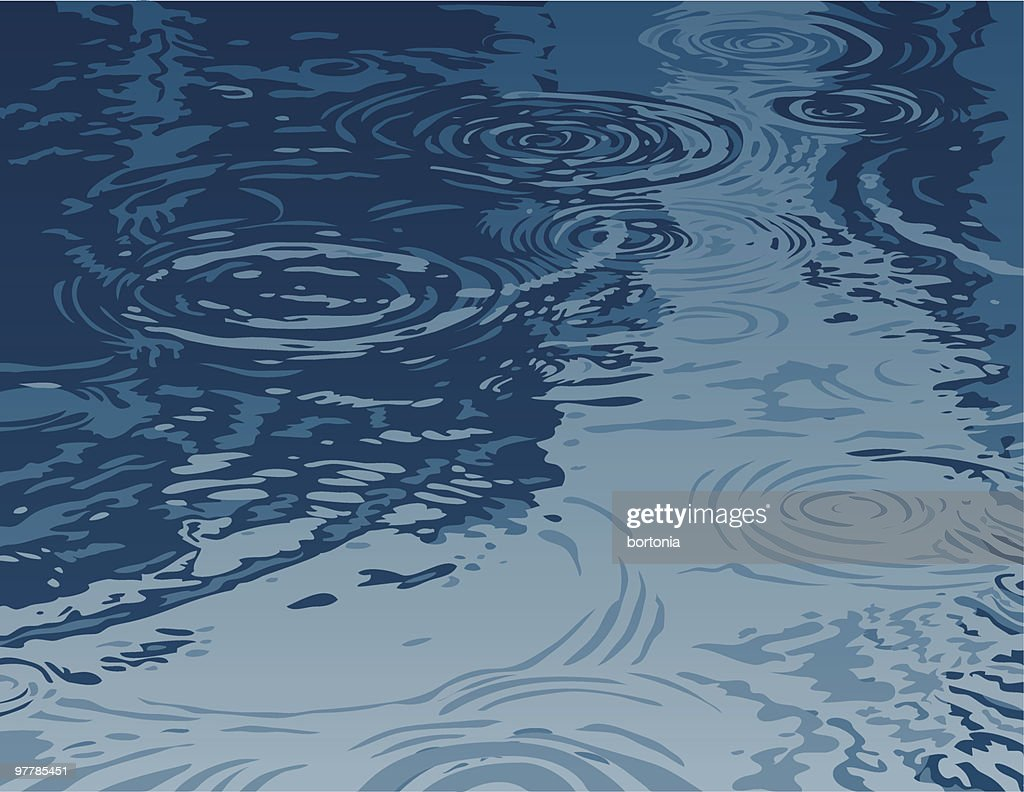 Puddle on a Rainy Day