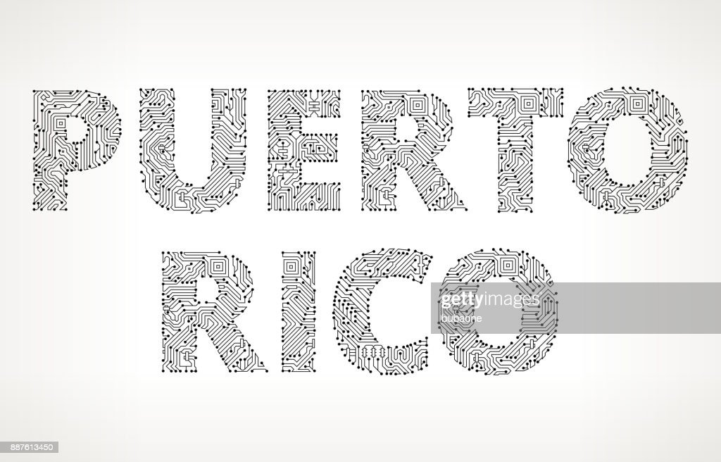 Puerto Rico Circuit Board Vector Buttons Vector Art | Getty Images
