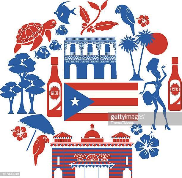 illustrations, cliparts, dessins animés et icônes de ensemble d'icônes de porto rico - porto rico
