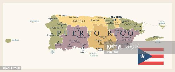 21 - puerto rico - vintage isolated 10 - en búsqueda stock illustrations