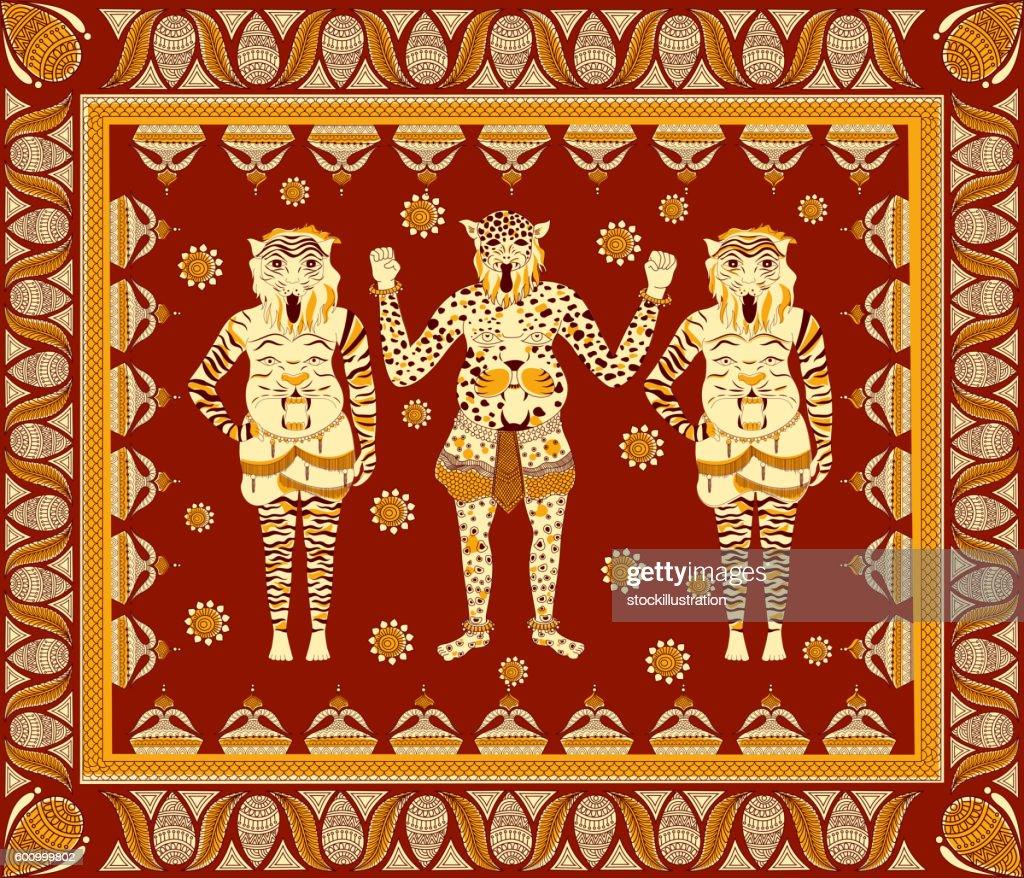 Puli Kali, tiger dance for Onam celebration