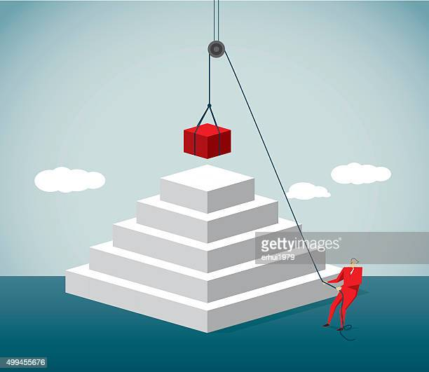 pulley - building block stock illustrations