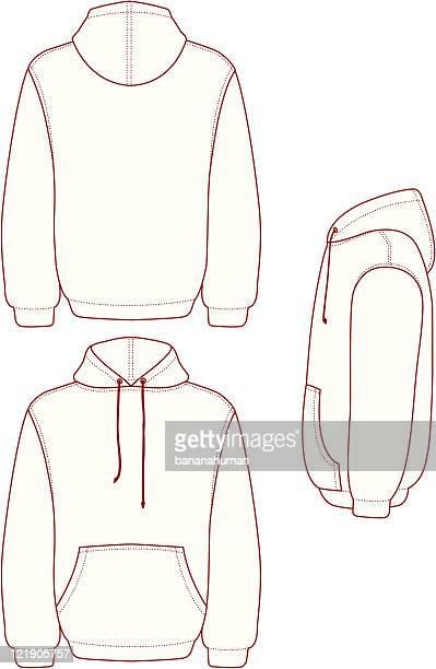 pullover hooded fleece - t shirt stock illustrations, clip art, cartoons, & icons