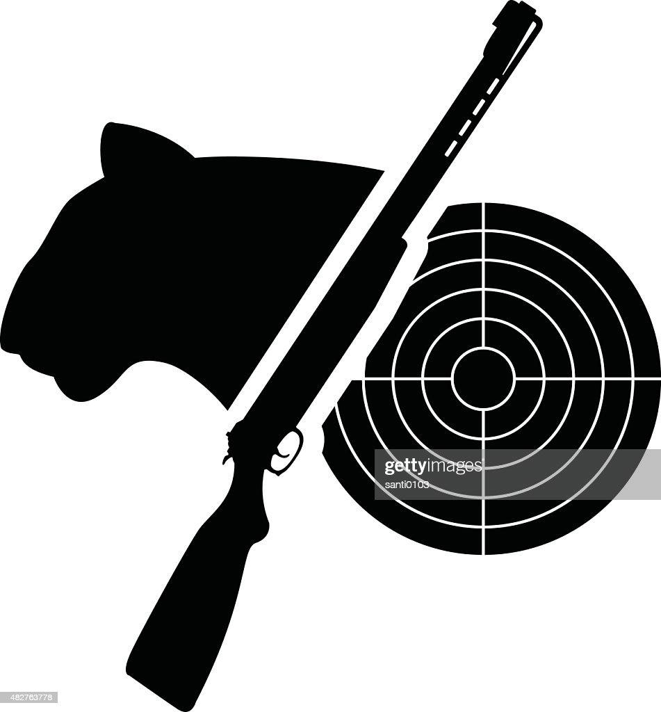 puma, gun and target