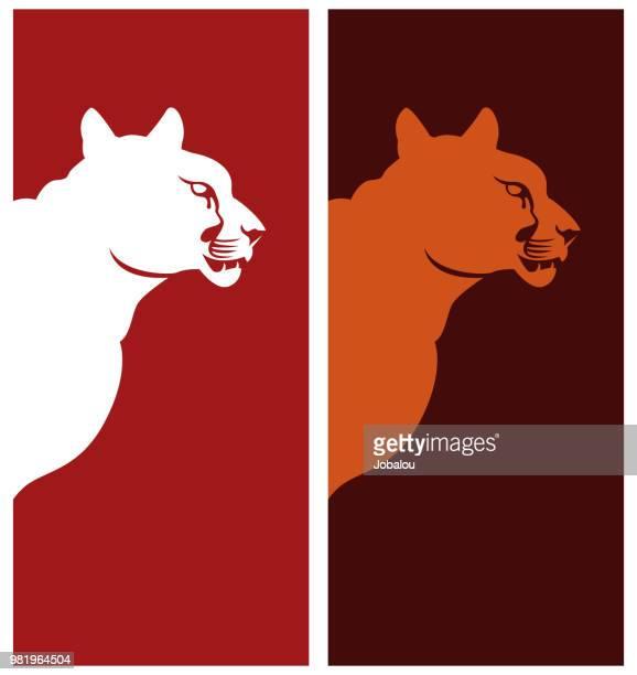 ilustraciones, imágenes clip art, dibujos animados e iconos de stock de prediseñadas de perfil puma - puma