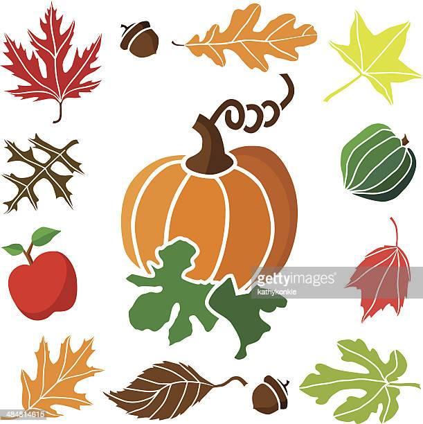 pumpkin and autum icon border