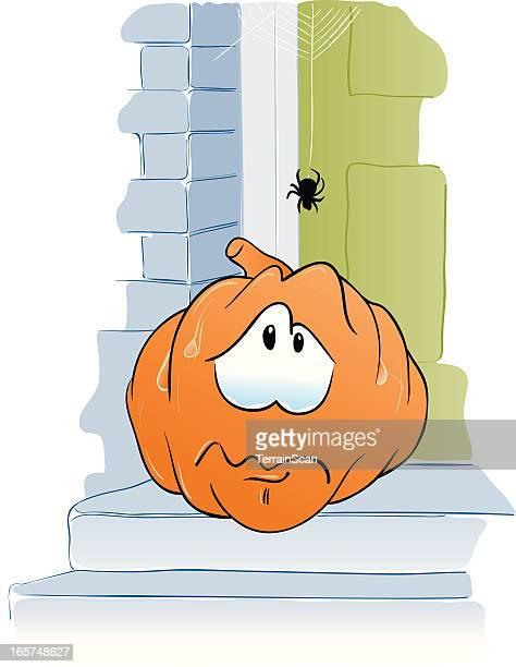 pumpkin cartoon - phobia stock illustrations, clip art, cartoons, & icons