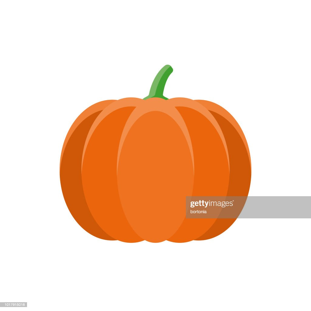 Pumpkin Flat Design Vegetable Icon