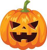 Pumpkin head vector illustration