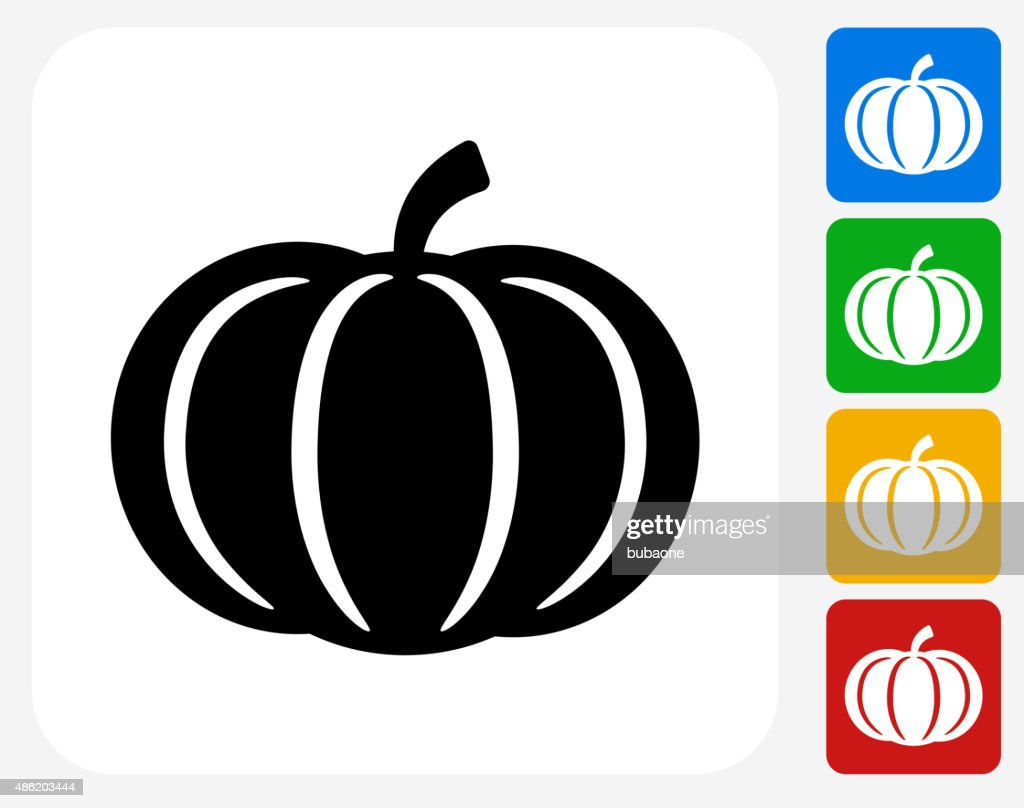 Pumpkin Icon Flat Graphic Design