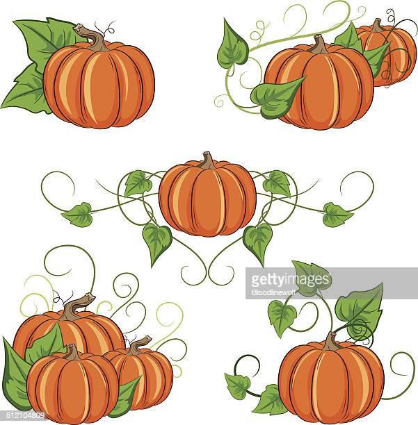 Pumpkin Ornaments Set