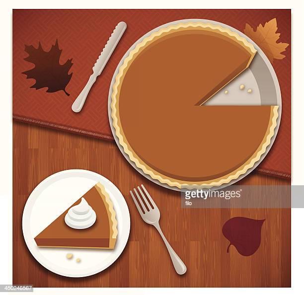 pumpkin pie - whipped cream stock illustrations, clip art, cartoons, & icons