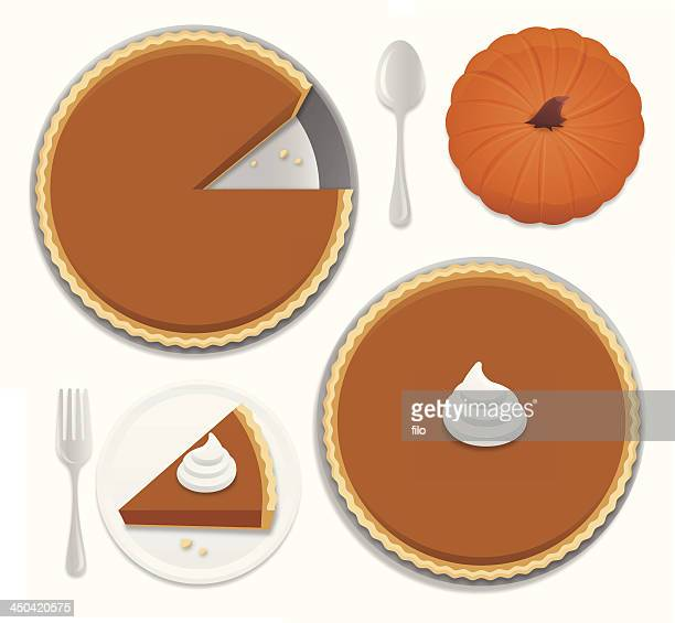 pumpkin pie - whipped cream stock illustrations, clip art, cartoons, & icons
