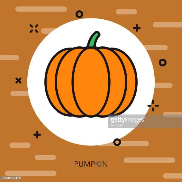 pumpkin thin line autumn icon - pumpkin stock illustrations, clip art, cartoons, & icons