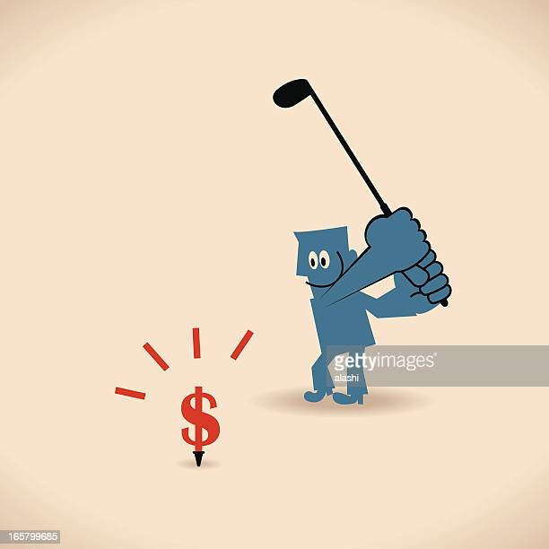 punch on the money - drive ball sports stock illustrations, clip art, cartoons, & icons