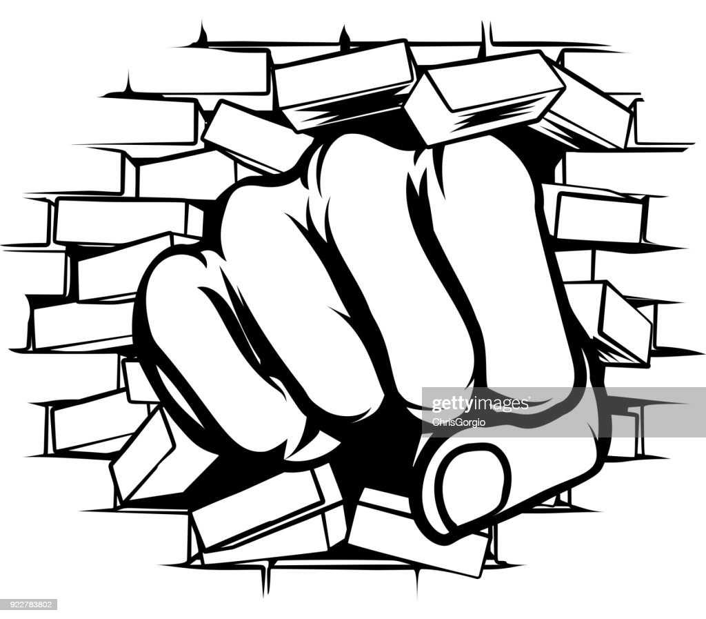 Punching Fist Through Brick Wall