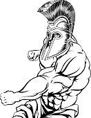 Punching gladiator mascot